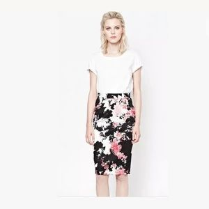 French Connection Floral Bell Garden Pencil Skirt